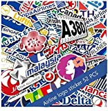 Airplane Logo Stickers Decal Worldwide Airlines A380 AIR Canada Thai Star ALITALI Alliance AIR China United QANTAS LOT Polish Airlines Swiss Delta ANA AIRASIA South African Singapore LUFTHANS 52Pcs