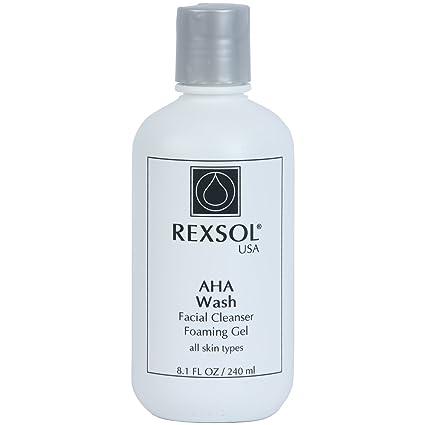 REXSOL AHA Gel Limpiador Facial Limpiador Facial   Con vitamina E, extracto de árnica, ...