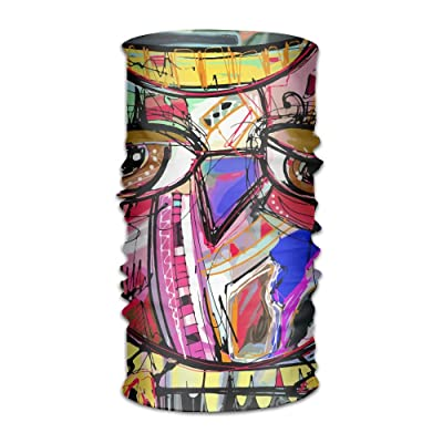 Abstract Painting Artwork Doodle Owl Colored Changed Headscarf Bandanas Face Masks Protect You From Sun, Wind And Dust For Men&women