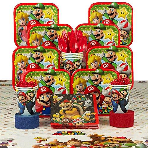 Super Mario Costume Ideas (Costume Supercenter BBKIT1016 Mario Birthday Party Deluxe Tableware Kit)