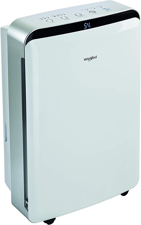 Whirlpool DE20LWS0 4L 43dB 315W Acero inoxidable, Color blanco - Deshumidificador (315 W, Electrónico, 345 mm, 210 mm, 575 mm, 14 kg): Amazon.es: Hogar