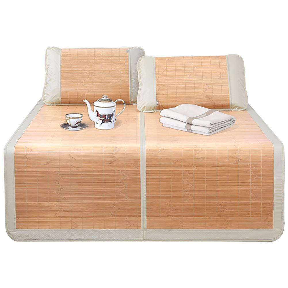 マットレス 竹冷却マットレス夏睡眠マットなし氷折りたたみ夏寝具両面竹マット (Size : W1.8mx2.00m) B07T93Y6TW  W1.8mx2.00m