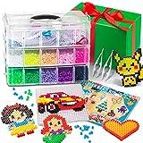 ToyLux Cuentas para Planchar - Kit de Abalorios de Colores de 5 mm de 18.000 Piezas - Juego de Manualidades para Niños con Maletín, Rejillas, Plantillas, Pinzas y Papel para Planchar