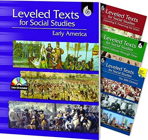 Leveled Texts for Social Studies: 4-Book Set by Shell Education Pub