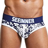 YAliDa 2019 clearance sale Mens Sexy Underwear Shorts Underpants Prints Soft Cotton Breathab Briefs Panties(,Navy)