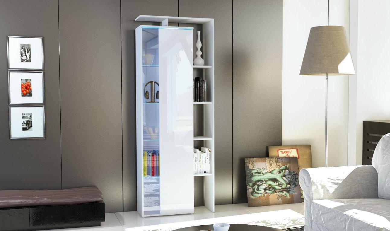Credenza Con Vetrinetta Bianca : Vetrina moderna gamonda bianca amazon casa e cucina