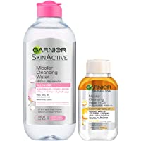 Garnier Skin Active Micellar Cleansing Water Classic Makeup Remover, 400ml + Micellar Cleansing Water In Oil 100 ml