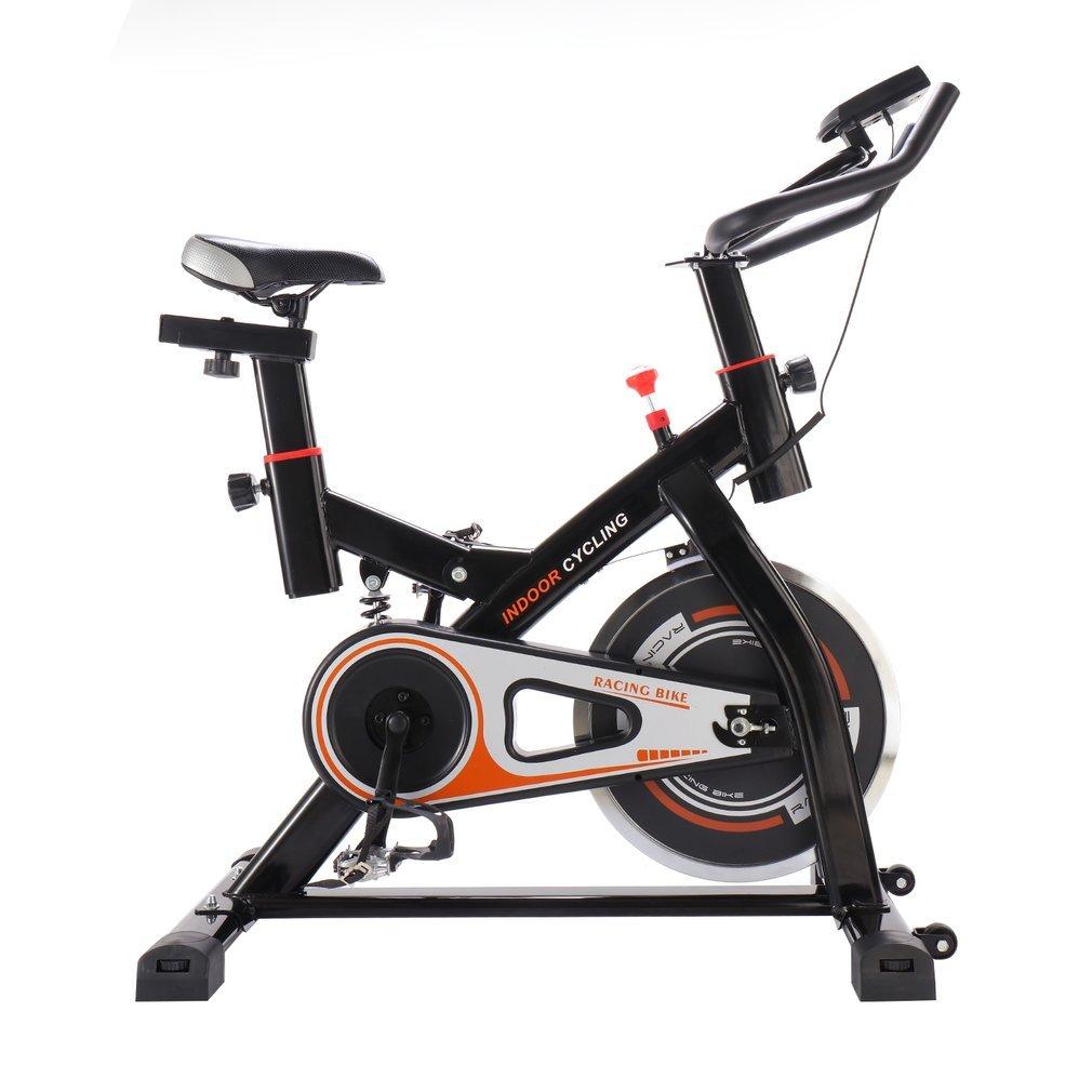 OUTAD Profi Indoor Cycle Fahrrad Heimtrainer Fahrrad Trimmrad Indoor Fitness Bike mit LCD Display und Stoßdämpfungssystem, Speedbike Flüsterleisem Riemenantrieb, Fahrrad Ergometer bis 150KG