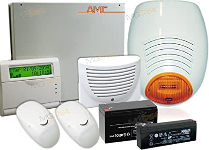 AMC - Kit de alarmas antirrobo con combinador GSM C24 Plus ...
