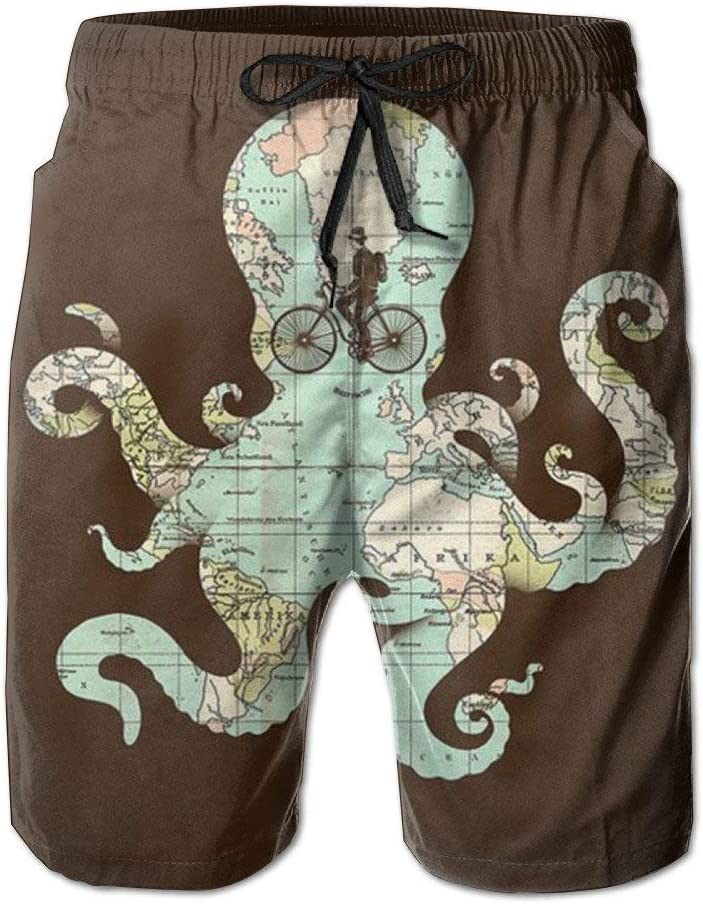 Squid Map Tour Mens Beach Comfortable Pants Shorts for Summer