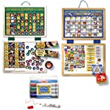 Melissa & Doug Deluxe Magnetic Responsibility Chart and Magnetic Calendar Set with Dry Erase Markers