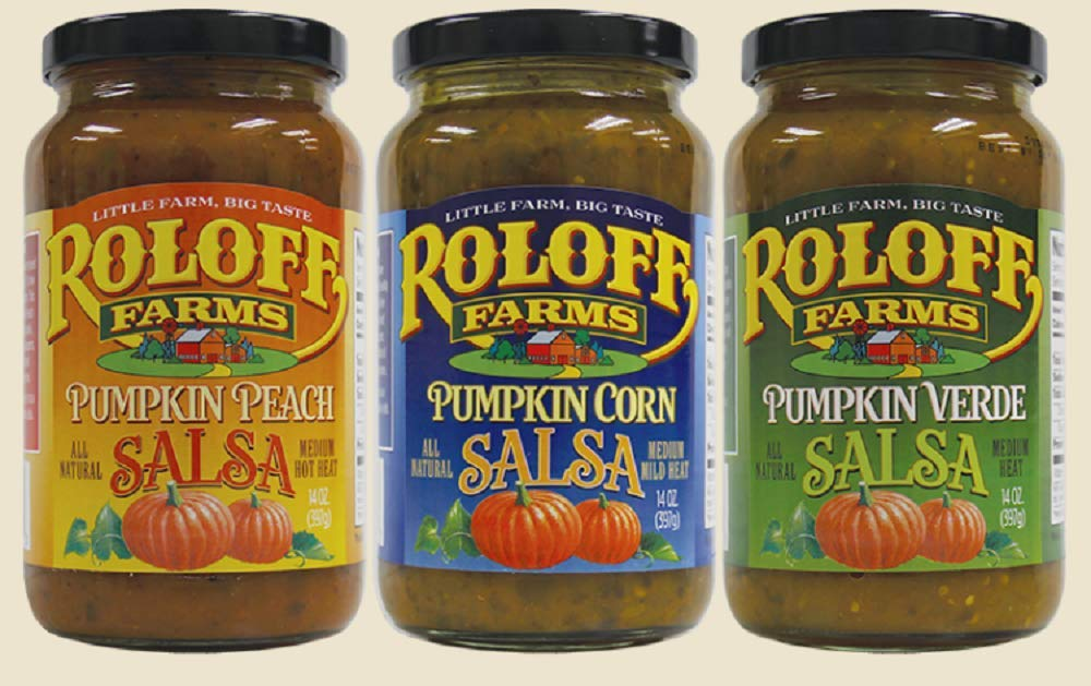 Roloff Farms Pumpkin Salsa Variety Pack (Peach, Corn, and Verde), 14 Ounce 3 Pack: Amazon.com: Grocery & Gourmet Food