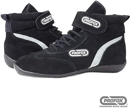 PROFOX Car Auto Racing Shoes Boots Black SFI 3.3//5 Black, 14