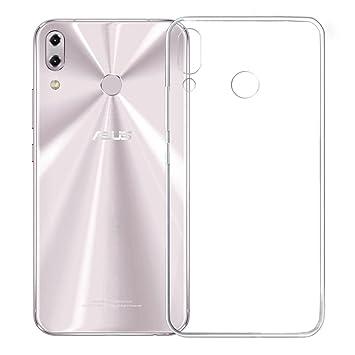 LJSM Funda ASUS Zenfone 5Z ZS620KL / ASUS Zenfone 5 ZE620KL Carcasa Flexible Ultra Slim Transparente Crystal Clear Soft Silicona TPU Suave Caso Case ...