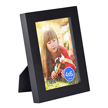 53b6f7668c37 Amazon.com - RPJC 4x6 Picture Frames Made of Solid Wood High Definition  Glass for Table Top Display and Wall mounting photo frame Black -