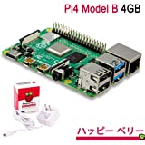 Raspberry Pi 4 Model B (技適取得済) && 15.3W USB-C 電源アダプター (4GB) 公式標準セット