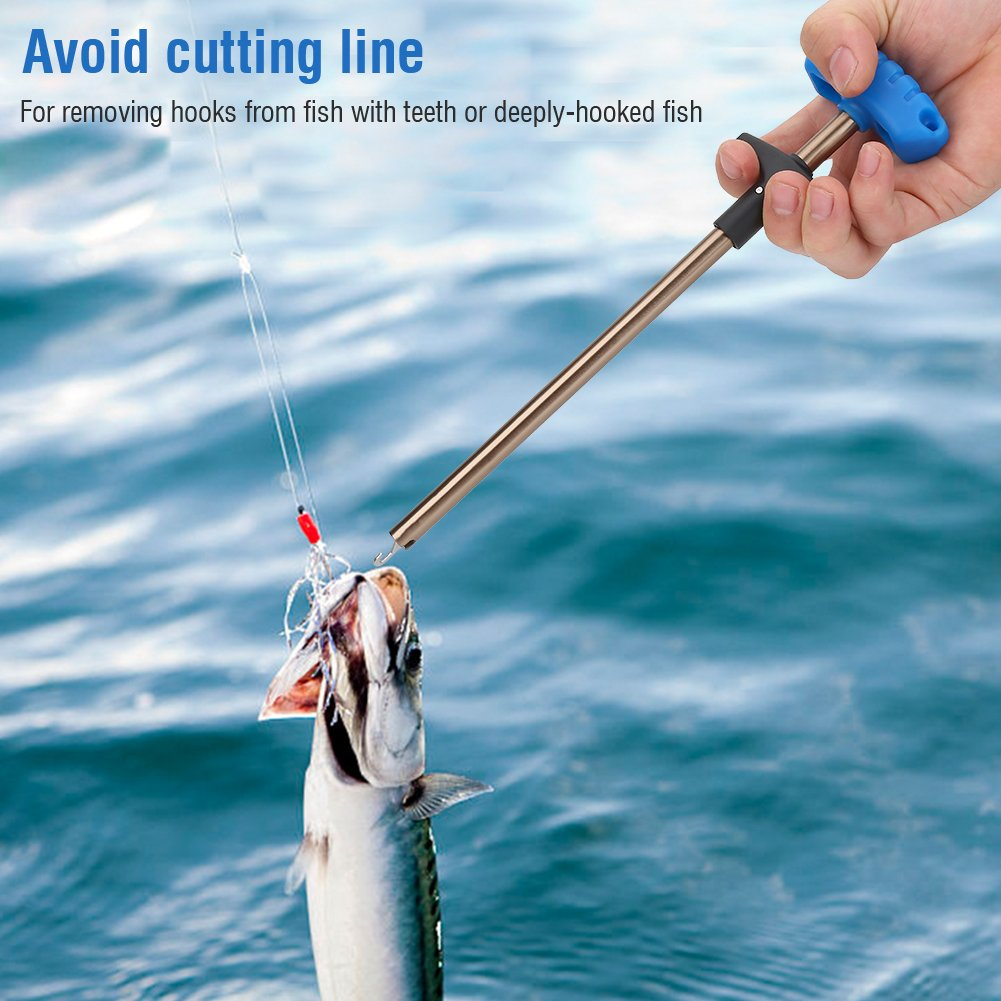 Easy Fish Hook Remover Puller T-Handle Fishing Tool Extractor Tackles Detacher Fishing