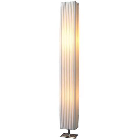 Design Stehlampe PARIS weiss 120 cm Stehleuchte mit Chrom-Fuß ...