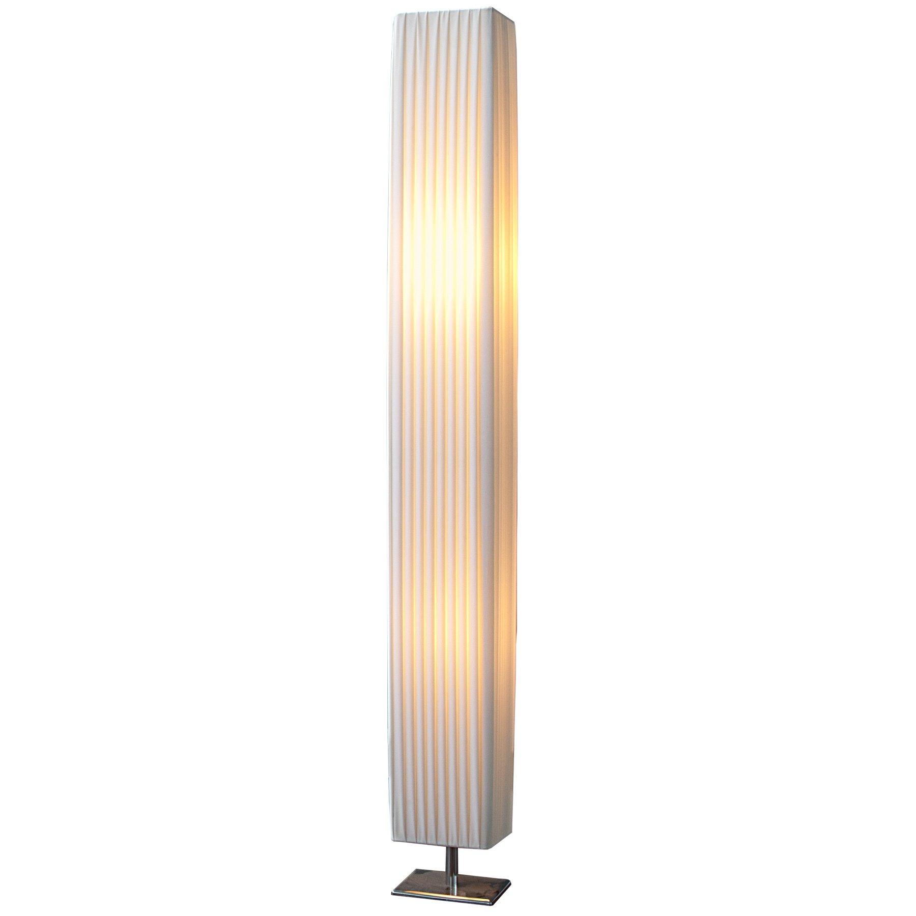 Design Stehlampe PARIS Weiss 120 Cm Stehleuchte Mit Chrom Fuß Wohnzimmer  Lampe Leuchte Standleuchte Product