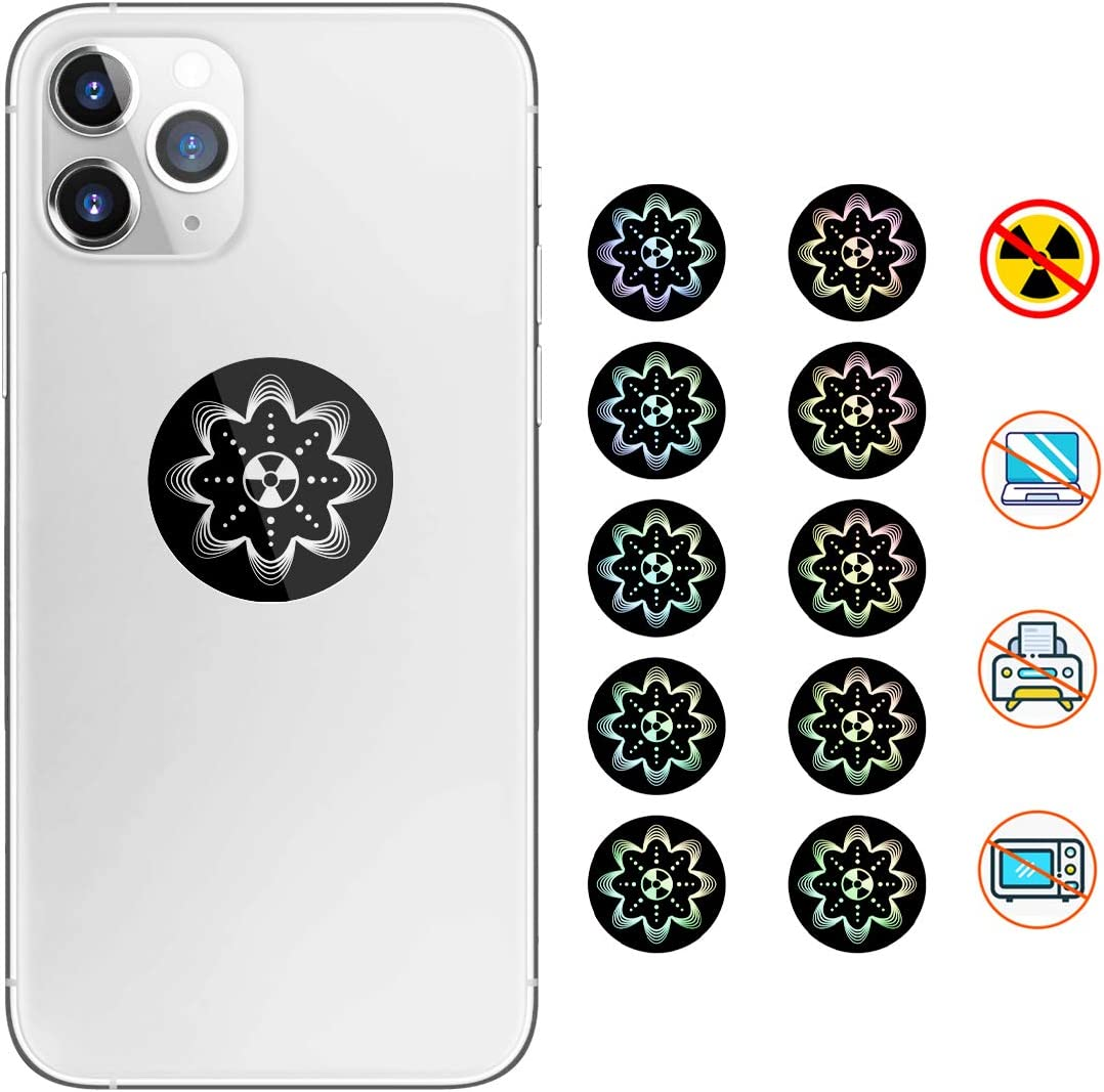 EMF Protection Cell Phone Sticker - Neutralizer Sticker Shield Blocker - Anti Radiation Protector for All Electronics iPhone, Laptops, Tablets, WiFi - (10 Pcs)