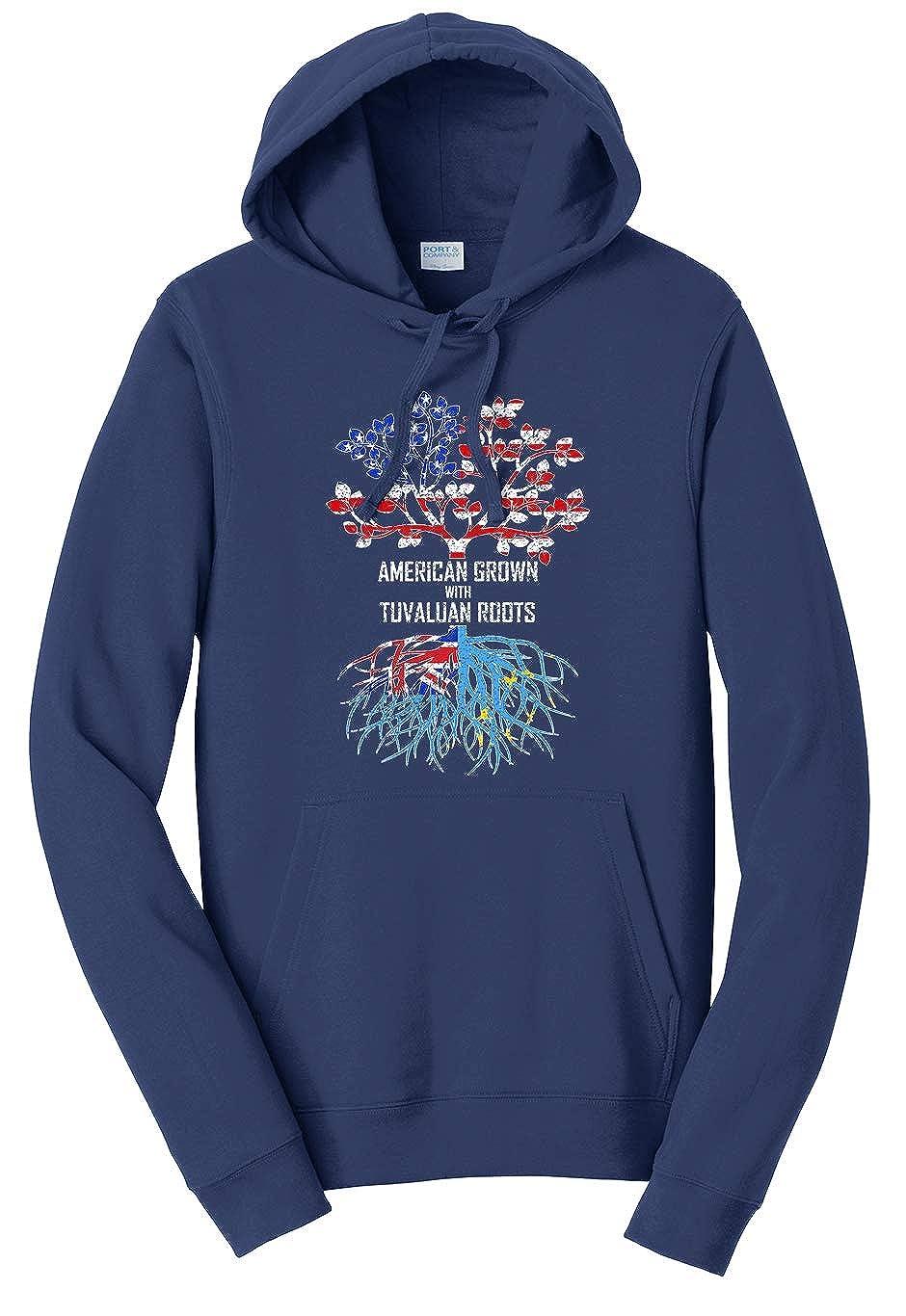 Tenacitee Unisex American Grown with Tuvaluan Roots Sweatshirt