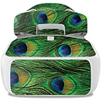 Skin For DJI Goggles – Peacock Feathers | MightySkins Protective, Durable, and Unique Vinyl Decal wrap cover | Easy To Apply, Remove, and Change Styles | Made in the USA