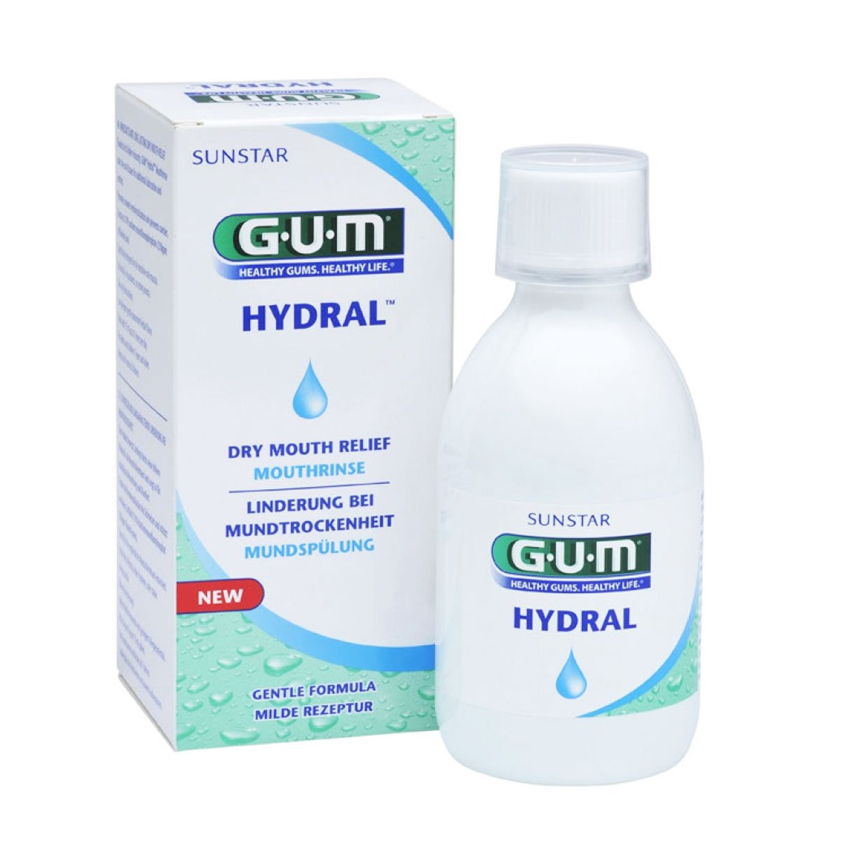 Gum Hydral Dry Mouth Mouthwash 300ml Butler