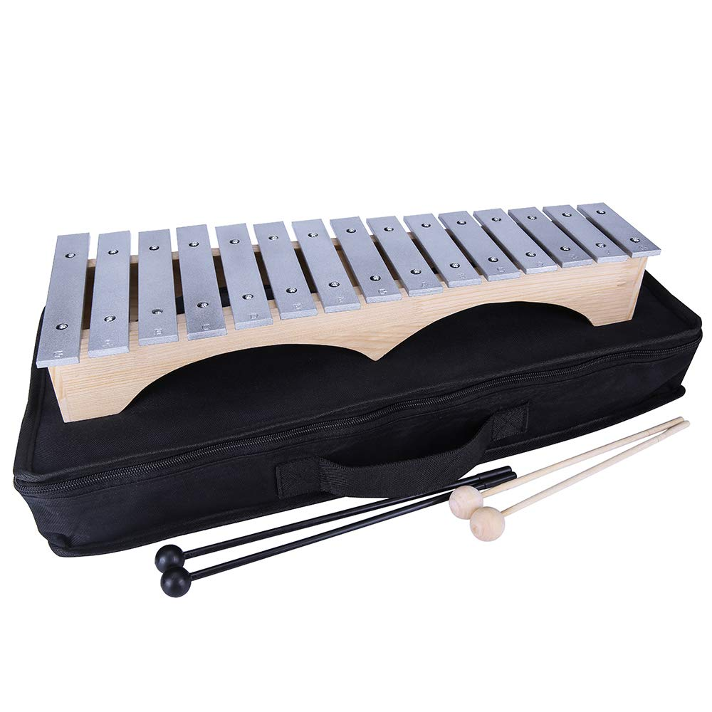 Yinama Xylophone Glockenspiel Professional Percussion Musical Instrument 15 Note