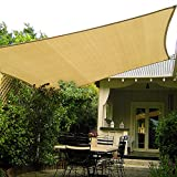 10 foot sun shade - Shade&Beyond 10' x 10' Square Sand Color Sun Shade Sail, UV Block for Outdoor Facility and Activities