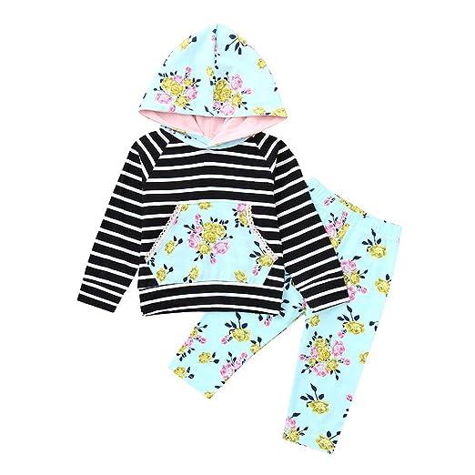 80b449ac7d44 Amazon.com  Baulody Toddler Infant Baby Boys Floral Long Sleeve ...