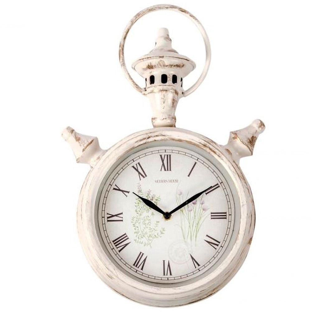 Rétro beige metal Clock 37 x 23 cm