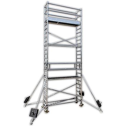 Altec profesional Andamio de aluminio Light 820 C, Ancho 0,7 m, longitud de 3 M, ...