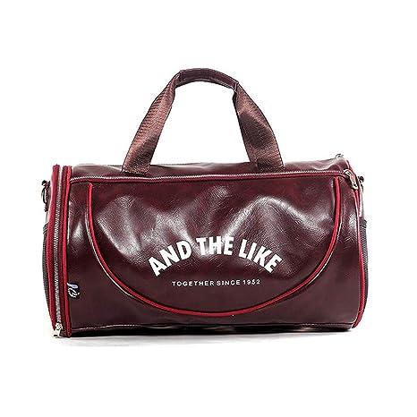fornitore ufficiale carino e colorato tessuti pregiati Wewo Borsone da Viaggio Uomo Borsa Palestra Tracolla Pelle Borse Sport  Grande capacità Impermeabile Donna Weekend Bag Pieghevole Resistente