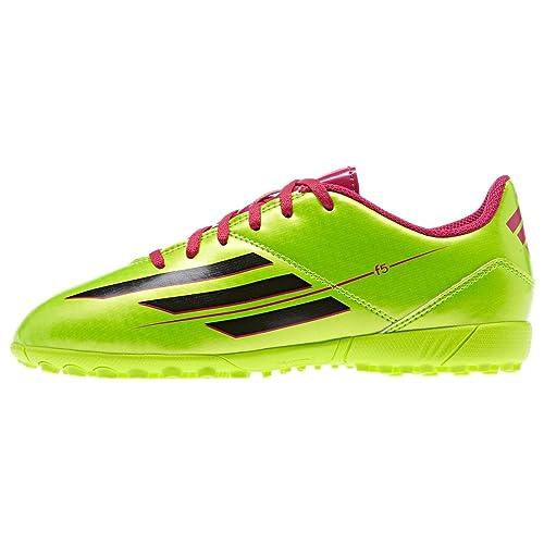 buy popular cd3f0 29c70 adidas F5 TRX TF Junior Astro Turf Zapatillas para niños Zapatos de fútbol,  Color Verde, Talla 45,5 EU Amazon.es Zapatos y complementos