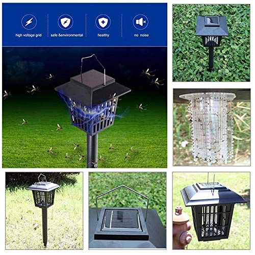 Shoppy Star New Multi-Functional Solar Powered Mosquito Killer LED Night Light Lawn Lamp Electronic Insect Pest Bug Zapper Trap Killer  France