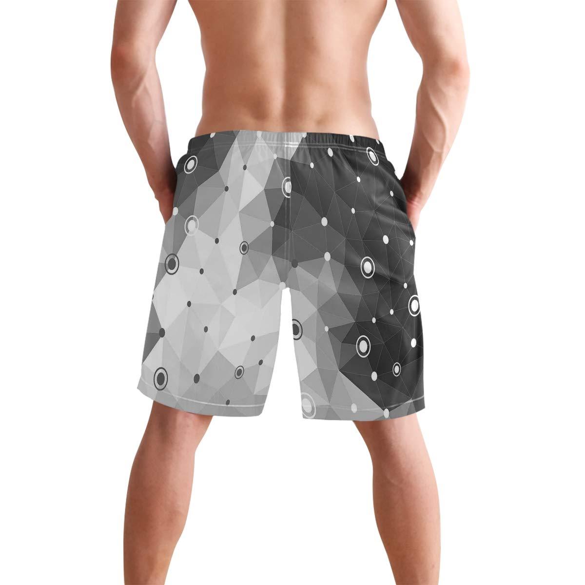 KVMV Polka Dots Creative Design Template Pattern Simple Gradient Effec 5size Beach Shorts