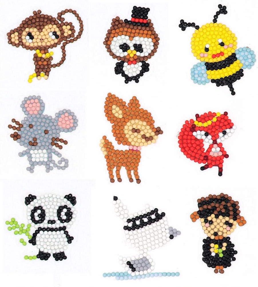 hágalo usted mismo Art Craft Animal Creatiees 39Pcs 5D Diamante kits de Pegatinas de pintura para niños