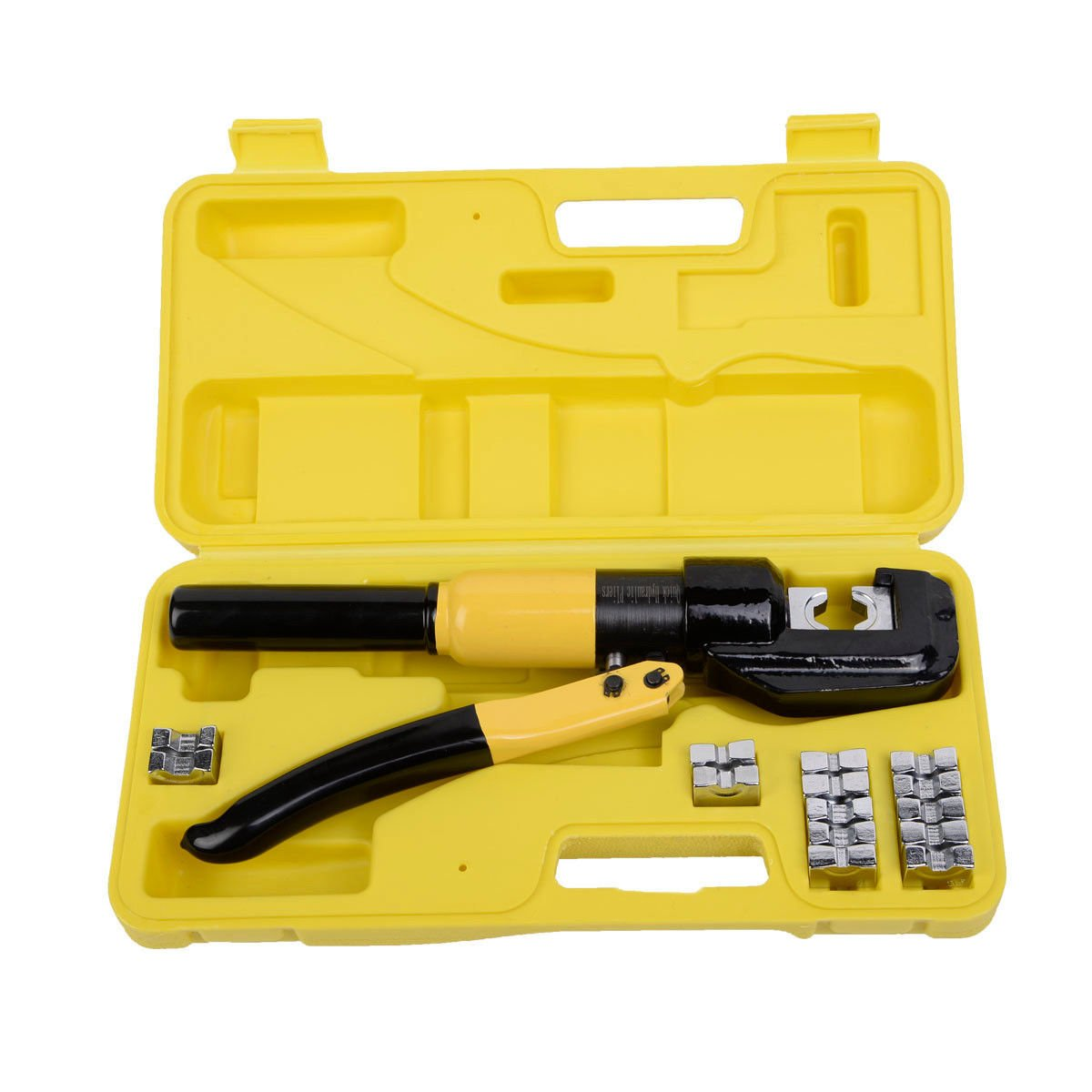 Toolsempire 8 Ton Hydraulic Wire Crimper Battery Cable Lug Terminal Electrical Crimping Tool Kit