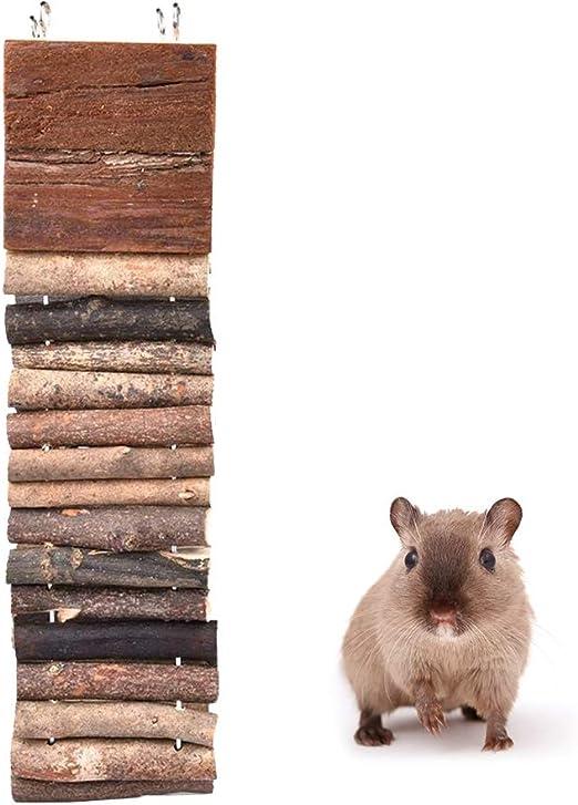 POPETPOP Escalera de hámster de Madera para Masticar Juguetes, Escalera para hámsteres de Mascotas pequeñas, Chinchillas, cobayas, 7 x 55 cm: Amazon.es: Productos para mascotas