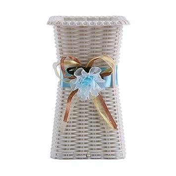 Youmei Cestas Flores Secas Plástico Upright y Jarrón Colgante con Mano Obra Exquisita para Cualquier Ocasión