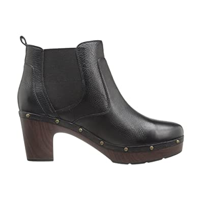 Clarks Women's Ledella Star Black Leather Boot 9.5 B ...