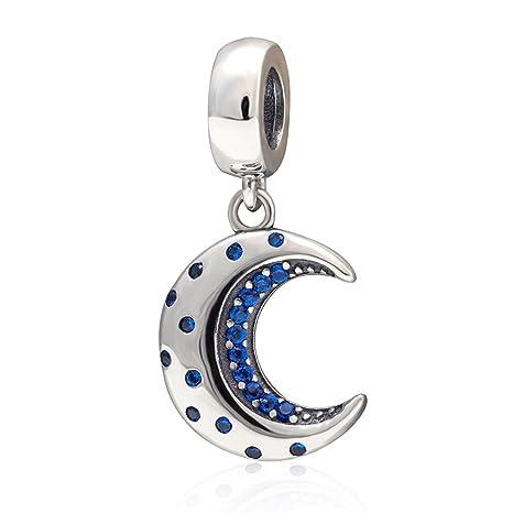 738be3176 Amazon.com: 925 Sterling Silver Moon Charm Sun Charm Star Charm Anniversary  Charm Christmas Charm for Pandora Charms Bracelet: Arts, Crafts & Sewing