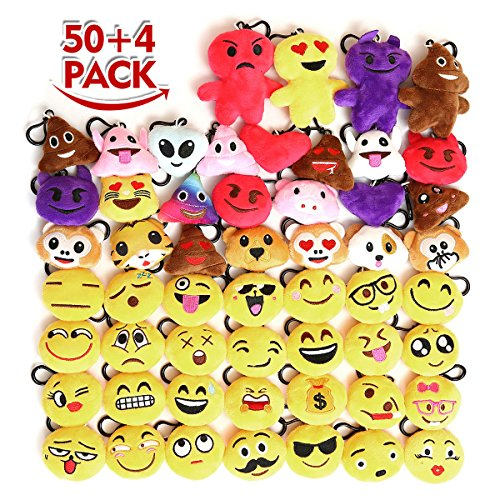 KINGSO Emoticon Keychain Decoration Supplies
