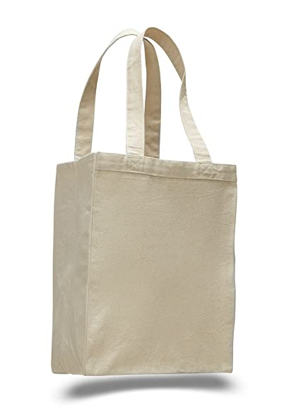 1871fb085ae8 (12 Pack) Set of 12- Extra Heavy Duty Canvas Tote Bag with Gusset