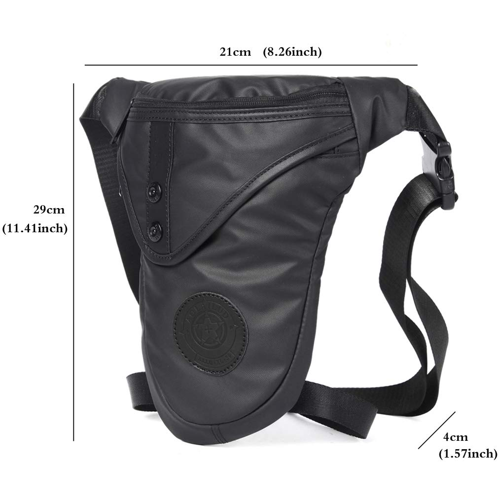 Motorcycle Drop Leg Bag for Men Outdoor Bike Thigh Hip Waist Fanny Pack Mens Riding Cycling Tactical Travel Sports Tool Bags