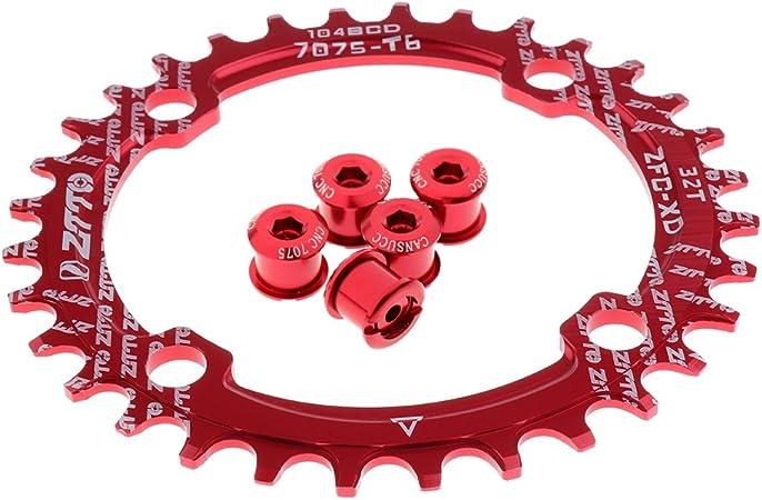 Corona Singola Bici Da Strada 104mm 4 Bulloni Accessorio Da Bici 8-9 Velocità