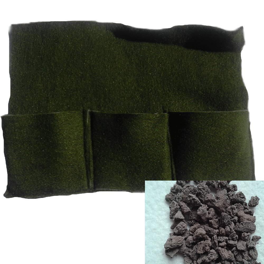 Pflanztasche 3er Mini incl Füllung Lava 4,8 Kg 2-8 mm Körnung Randgestaltung Teich Pflanzen