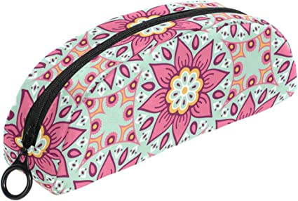 Estuche con diseño de mandala india floral con cremallera, bolsa de maquillaje, papelería para niños, adolescentes, niñas: Amazon.es: Oficina y papelería