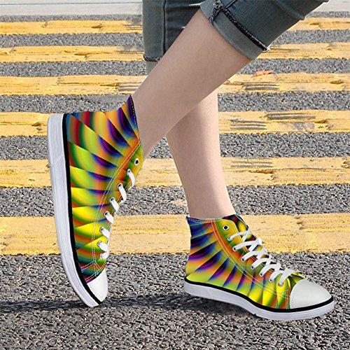 Abbracci Idea Colorata Moda Donna Alta Scarpe Di Tela Scarpe Da Ginnastica Coloful 5
