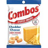 COMBOS Cheddar Cheese Cracker Baked Snacks 6.3-Ounce Bag (Pack of 12)
